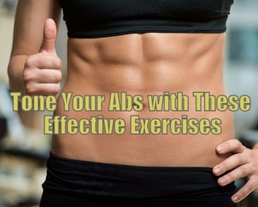 toned abs with exercise