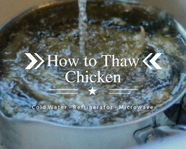 how to thaw chicken