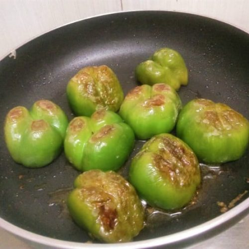 stuffed capsicum step by step