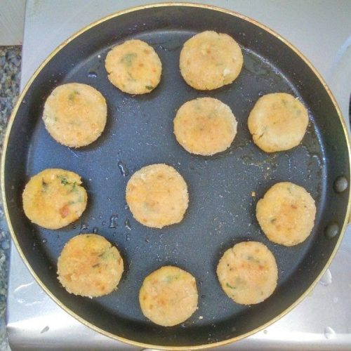 Poha Cutlet cooking process